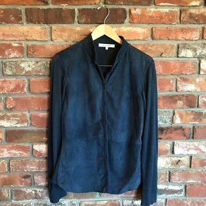 Rani Arabella Cashmere Silk Blend Suede Sweater